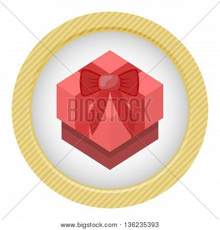 Red Gift Box Colorful Icon