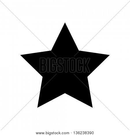 Star icon on white