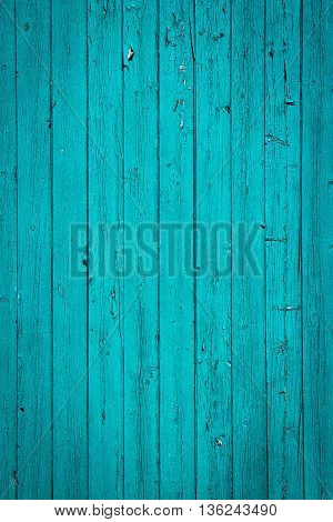turquoise blue vertical  old wood background texture