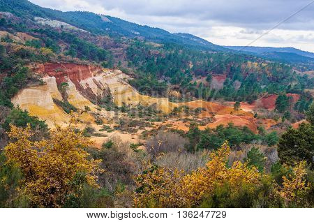 Ochre Mines In French Colorado, Provence, France
