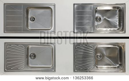 Four New Stainless Steel Kitchen Sinks Fixtures
