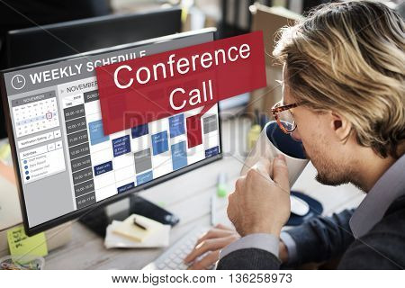 Conference Call Boardroom Brainstorming Team Concept