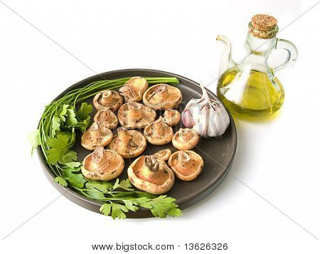 Olive Oil And Mushrooms