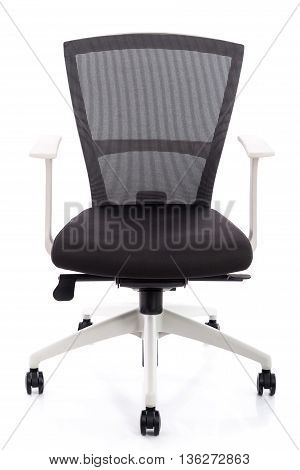 Close up Modern office chair on white backgroundisolated