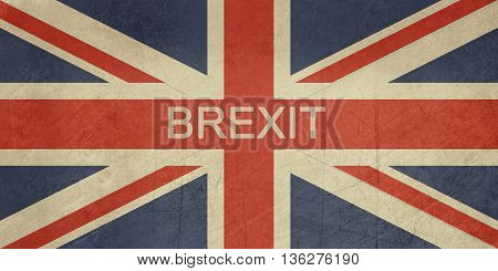 Grunge United Kingdom Brexit Flag or Great Britain Union Jack.