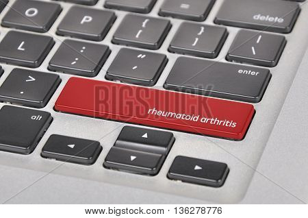 The Computer Keyboard Button Written Word Rheumatoid Arthritis