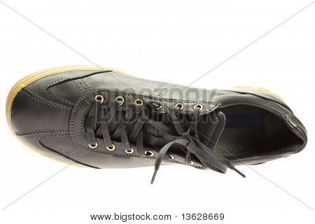 Black Athletic Shoes Isolated On White