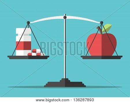 Pills, Apple And Balance