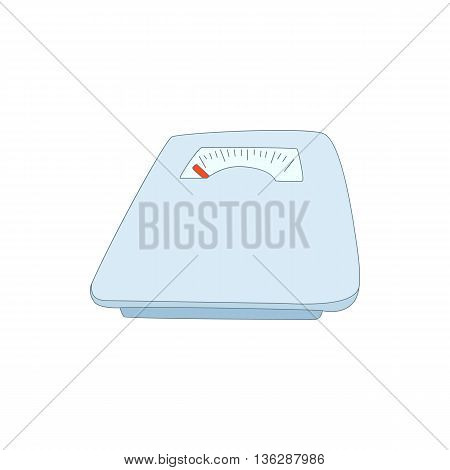Mechanical scales icon in cartoon style isolated on white background. Device for weighing symbol