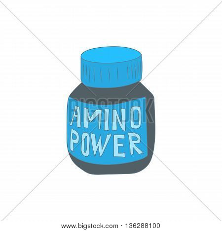 Amino acids icon in cartoon style isolated on white background. Supplement symbol
