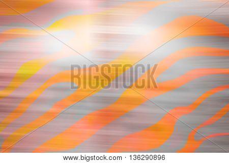 Gray orange animal silk seamless pattern background
