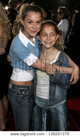 Alexa Vega and Makenzie Vega at the Los Angeles premiere of 'Just My Luck' held at the Mann National Theater in Westwood, USA on May 9, 2006.