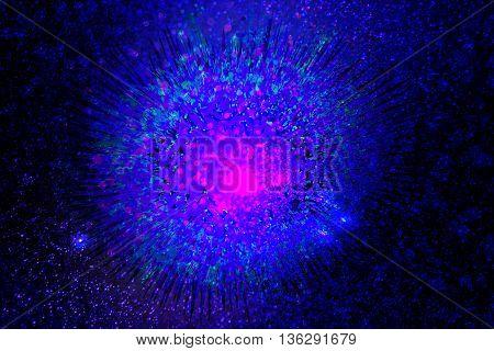 Blue Violet fantastic Ice explosion background design