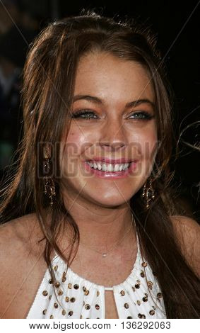 Lindsay Lohan at the Los Angeles premiere of 'Just My Luck' held at the Mann National Theater in Westwood, USA on May 9, 2006.
