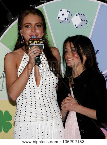 Lindsay Lohan and Ali Lohan at the Los Angeles premiere of 'Just My Luck' held at the Mann National Theater in Westwood, USA on May 9, 2006.
