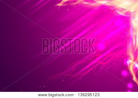 Yellow pink Burning flame copy space background