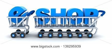 Abstract cart e-shop (done in 3d rendering)