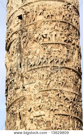 Column Of Marcus Aurelius.