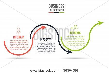 Infographic Template. Data Visualization. Can be used for workflow layout, number of options, steps, diagram, graph, presentation, round chart and web design. Vector illustration.
