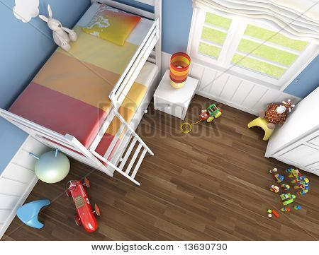 Children's Room Top View