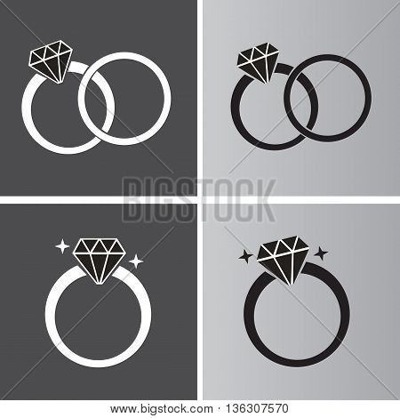 Diamond Ring Symbol wedding ring diamond ring symbol vector wedding