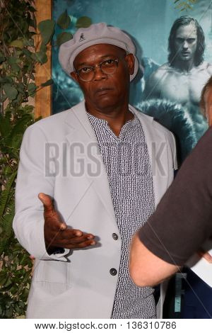 LOS ANGELES - JUN 27:  Samuel L. Jackson at The Legend Of Tarzan Premiere at the Dolby Theater on June 27, 2016 in Los Angeles, CA