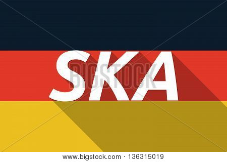Vector Long Shadow Germany Flag With    The Text Ska