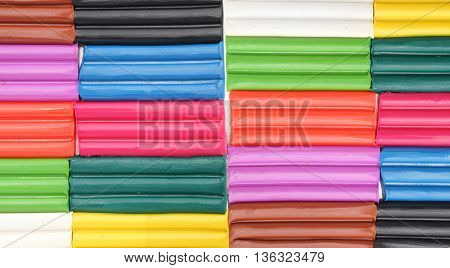 Colorful plasticine