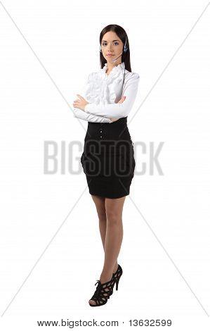 Call Center Employees Girl