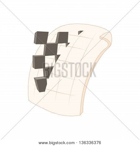 PNG image file extension icon in cartoon style on a white background