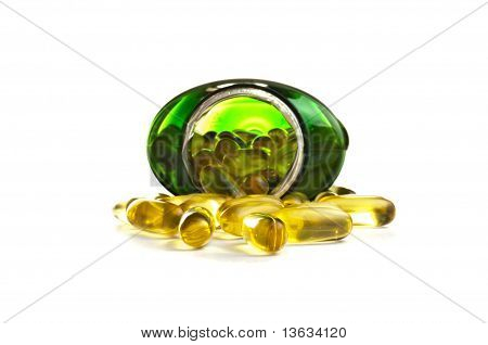 Omega 3 Capsules In A Bottle