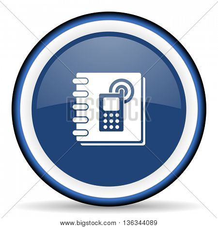 phonebook round glossy icon, modern design web element