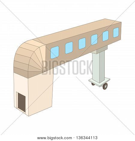 Jet bridge icon in cartoon style on a white background