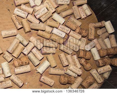 Wine Corks In The Jose Ferrer Winery