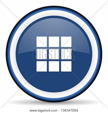 thumbnails grid round glossy icon, modern design web element