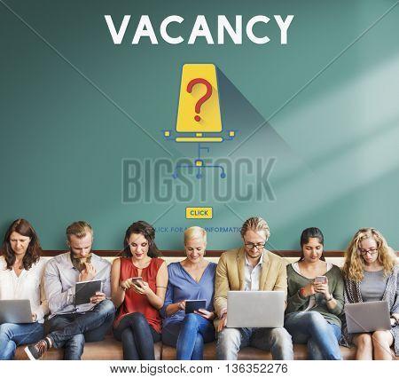 Vacancy Job Available Vacant Job Concept