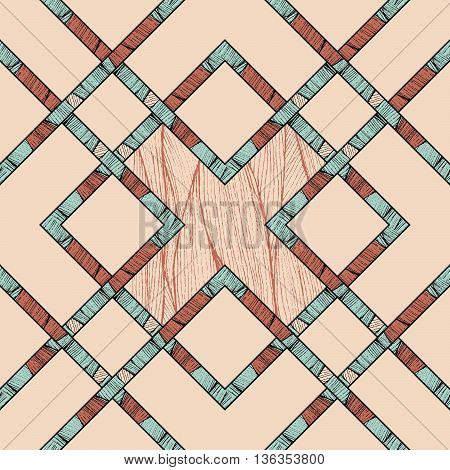 seamless vector geometric design. abstract pattern with criss-cross stripes