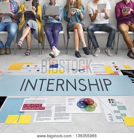 Internship Management Temporary Position Concept