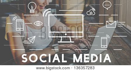 Social Media Devices Communication Connection Concept