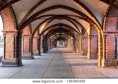 Underpath with columns at in Berlin, Germany