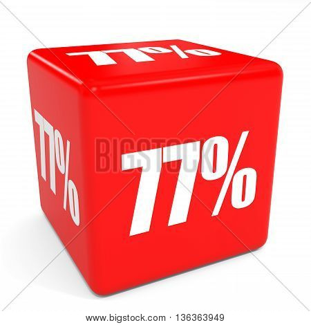 3D Red Sale Cube. 77 Percent Discount.