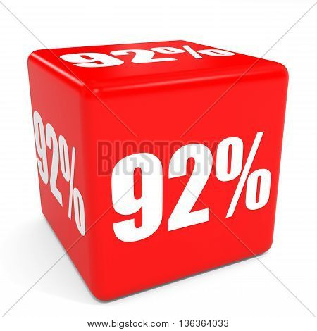 3D Red Sale Cube. 92 Percent Discount.