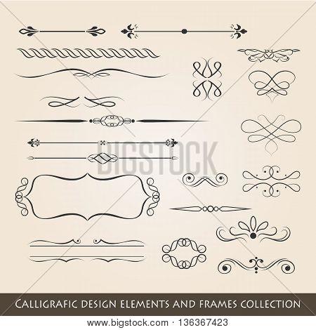 vintage style elements of vintage works - vector illustration