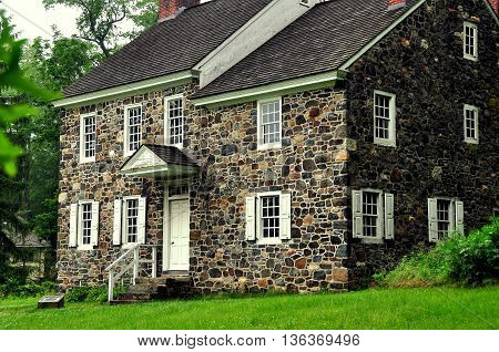 Chadds Ford Pennsylvania - June 2 2015: Benjamin Ring House used as headquarters by George Washington during the 1777 Revolutionary War Battle of the Brandywine