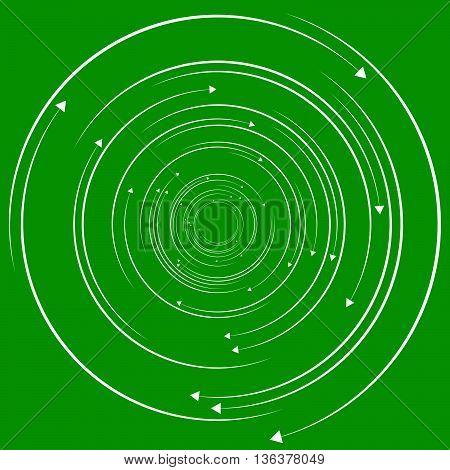 Concentric, Circular Arrows. Random Dynamic Circle Arrows.