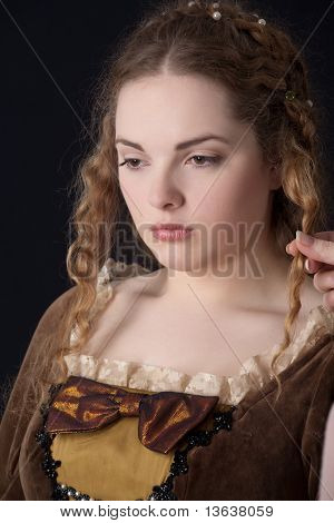 Sad renaissance portrait (hard to be a princesse)