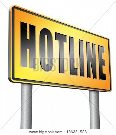 hotline icon call center button or helpline sign for online customer support