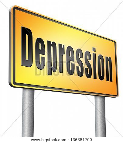 Depression or nervous breakdown disorder of mental health psychotherapy diagnosis for therapy depression.