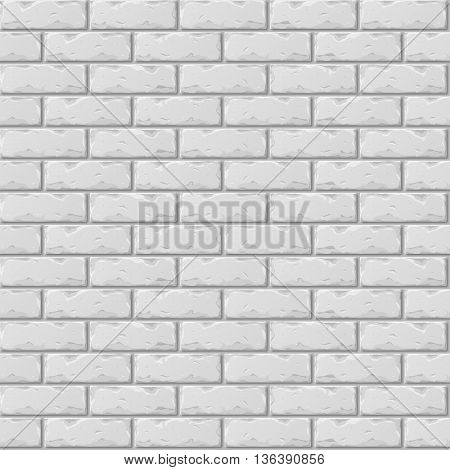 Old Gray Brick Wall Seamless Pattern for Design