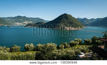 Lake Iseo Floating Piers General View